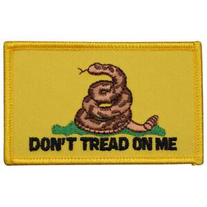 "Gadsden Flag Patch - Don't Tread on Me, American Revolution 3.25"" (Iron on)"