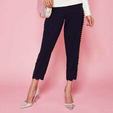Ted Baker Women's Scallop Trim Jogger Trousers, pants Navy Size TB1 UK8 BNWT