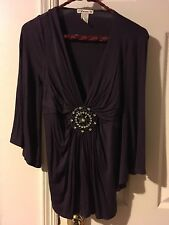 Forever 21 Purple small jewel tunic top