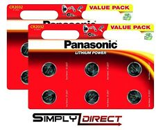 12 x Panasonic CR2032 3V Lithium Coin Cell Battery 2032