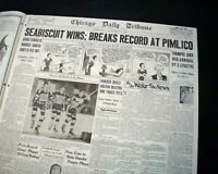 SEABISCUIT Wins War Admiral Horse Racing 'Match of the Century' 1938 Newspaper