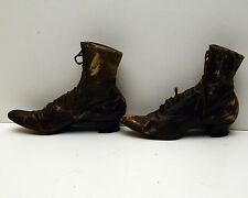 """Antique Ladies Boots Victorian  Los Angeles """"the Angelus"""" Broadway Department"""