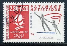 STAMP / TIMBRE FRANCE OBLITERE N° 2633 SPORT ALBERVILLE PATINAGE