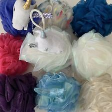 Bath & Body Works Loofah Shower Gel Wash Mesh Colored Sponge With Strap You Pick
