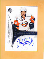 2009 10 SP AUTHENTIC ROOKIE # 248 JOEL RECHLICZ SP 999 NEW YORK ISLANDERS