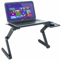 Foldable Laptop Riser Stand Desk Holder Tray Table Adjustable Portable for Bed