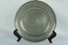 "Superb Antique pewter plate marked, rare, part of collection 9"" [Y8-W6-A8]"