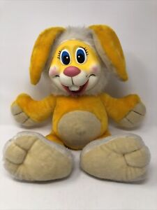 Rare Vintage Rubber Face Bunny Rabbit Plush Toy Easter Stuffed Animal