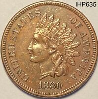 1880 Indian Head Cent Penny