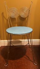Rare  Tony Paul Spiral  Iron Wire Accent Mid Century Modern Chair