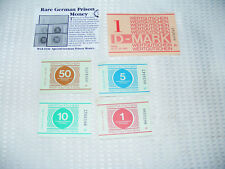 German    Prison     Money   1   Pfennig   To   The   1D   Mark     ( 5  Notes )