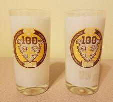 Vintage American 1964 Montana Territorial Centennial Rare glass glasses set