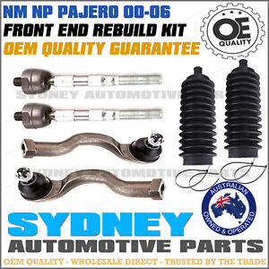MITSUBISHI PAJERO NM NP 2000-2006 Inner & Outer Tie Rod End & Rack Boots 6PCS