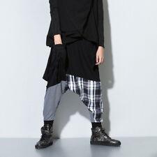 Men Women Splice Harem Loose Sweat Pants Alibaba Drop Crotch Trouser Hippie Soft