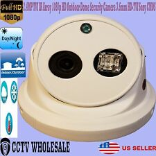 2.4MP TVI IR Array 1080p HD Outdoor Dome Security Camera 3.6mm HD-TVI Sony CMOS