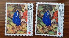 FRANCE variété. Yvert 2498. 2 teintes différentes.**. MNH les 2 timbres envoyés