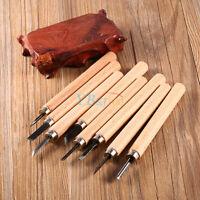 Hot Wood Handle Carving Mini Chisels Tool Kit Carpenters DIY Handy Tools Set