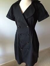 Suzi Chin for Maggy Boutique Trench Dress Black Size 6 EUC