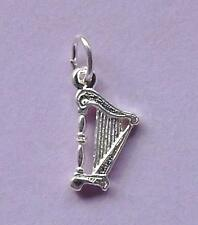 Harp Charm Pendant STERLING SILVER