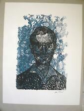 TAMARI Olive Eau forte KOTTELANNE Claude Portrait bleu Toulon Ecole provençale