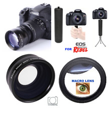 FISHEYE LENS +10x MACRO LENS + SPORTS GRIP FOR CANON EOS REBEL 6D 7D 80D T5 T6