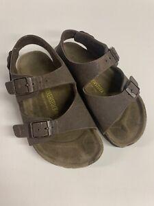 Birkenstock Roma Girl's Brown Double Strap Flip Flop Sandals Eu 29 11 -11.5 US