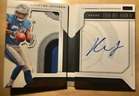 2018 Kerryon Johnson Playbook RC Auto 4CLR JSY Patch #52/99 Booklet Lions RB RPA
