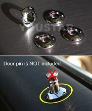 (x4) Door lock knob CHROME BRASS Ferrules for SEAT CORDOBA IBIZA LEON TOLEDO ALL