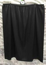 LADIES pretty half slip petticoat BLACK WHITE CREAM//NUDE lace hem Mid length NEW