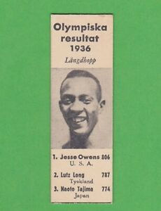 1936 Swedish Ahlgrens olympic set nno Jesse Owens Long jump RARE!