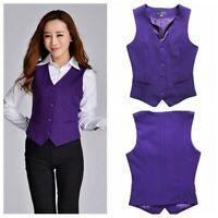 Lady Dress Suit Vests Formal Work Tank Uniform Cafe Bar Waitress Restaurant Slim