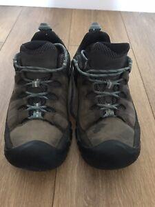 Keen Alcatraz Hiking Shoes - Brown Blue - UK 8 - USED
