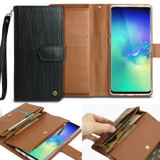 For Galaxy Note10 9 / S10 S9 S8+ Leather Wallet Card Holder Flip Dual Case Cover