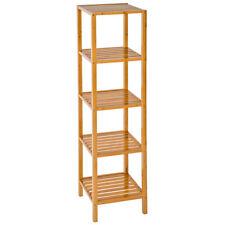 Étagère debout 5 niveaux salle de bain cuisine bois de bambou stockage rangement