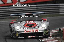 9x6 Photograph ,Kelleners / Chaves Porsche 911 GT1 , FIA GT1 Championship  1997