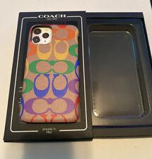COACH Pride Signature Phone Case For IPhone 11 Pro Rainbow Penny Tan