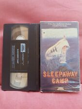 SLEEPAWAY CAMP VHS 1989 WITH SLIPCOVER VIDEO TREASURES HORROR CULT CLASSIC MOVIE