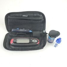 One Touch Ultra Mini Glucose Meter Bundle Case Delicate Pricker Test Strips