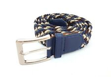 Cinta Cintura Uomo Intrecciata Blu 2K-6040 Glamour Fashion Alla Moda hac