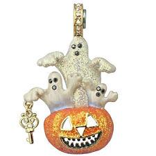 Kirks Folly Ghostly Pumpkin Magnetic Enhancer-Halloween JOL & Ghosts-Goldtone