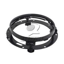 "Black 7"" LED HID Headlight Ring Mounting Bracket for  Harley Softail"