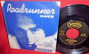 JONATHAN RICHMAN & THE MODERN LOVERS Roadrunner Once 45rpm 7' + PS 1977 MINT-