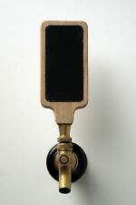 "Chalkboard or dry erase beer tap handle kit, natural oak wood, 2""x4"" insert"