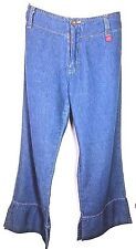 * HOTKISS *  Capri Jeans w/ Flared Hem and Side Slits - Juniors Size 9