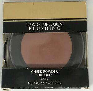 Revlon New Complexion Blushing Cheek Powder Oil Free BARE 04 rare, NIB .21 OZ