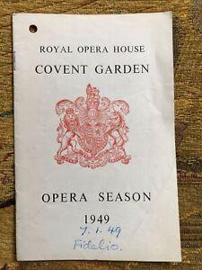 Fidelio London Opera Programme 1949 - Elisabeth Schwarzkopf Thorsteinn Hannesson