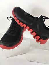Reebok Men's Zig Evolution Size 10 Black/Excellent Red Running Shoes BD5562 EUC