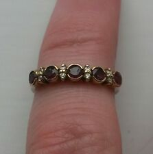 Beautiful 9ct Gold Diamond And Garnet Ring - Size L - Price Reduced