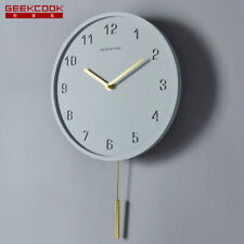 2019 Creative New style silent Cement Concrete Sweep Simple Pendulum wall clock