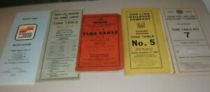 Lot of 5 Different Railroad Time Table Books - 1959, 1963, 1966, 1969, 1984